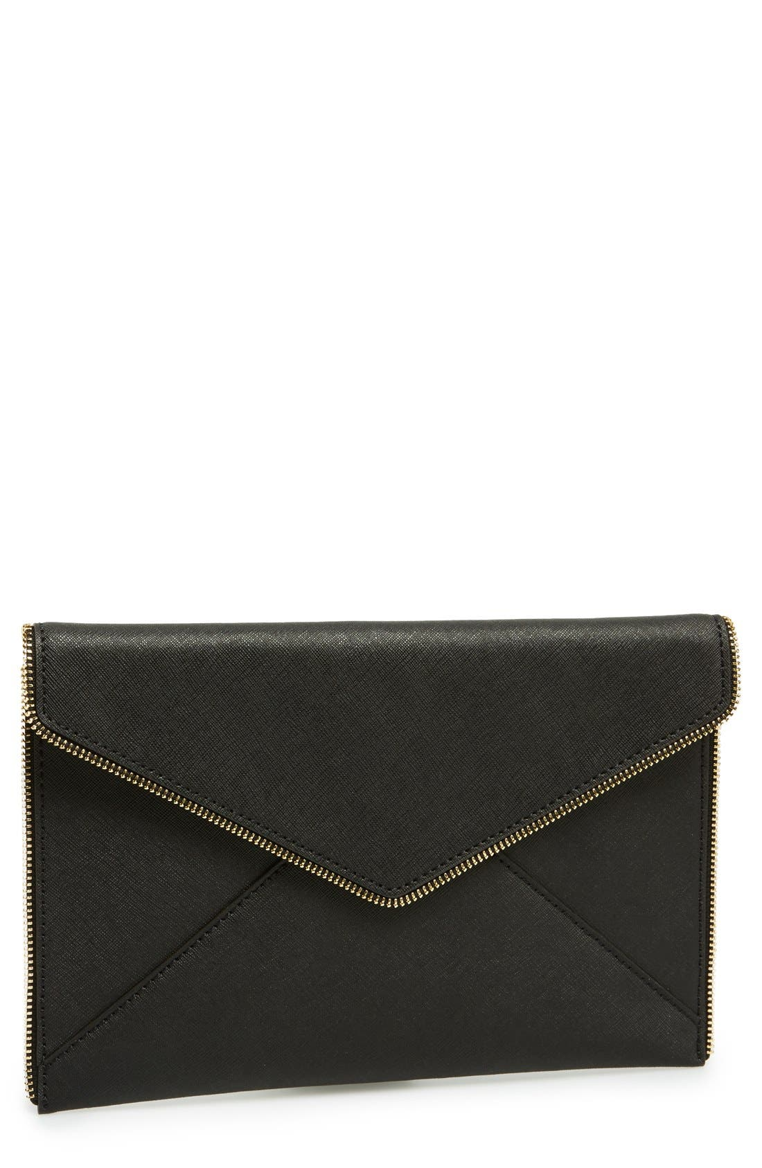 ,                             Leo Envelope Clutch,                             Main thumbnail 86, color,                             001