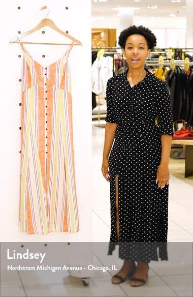 Wisteria Linen Blend Midi Dress, sales video thumbnail