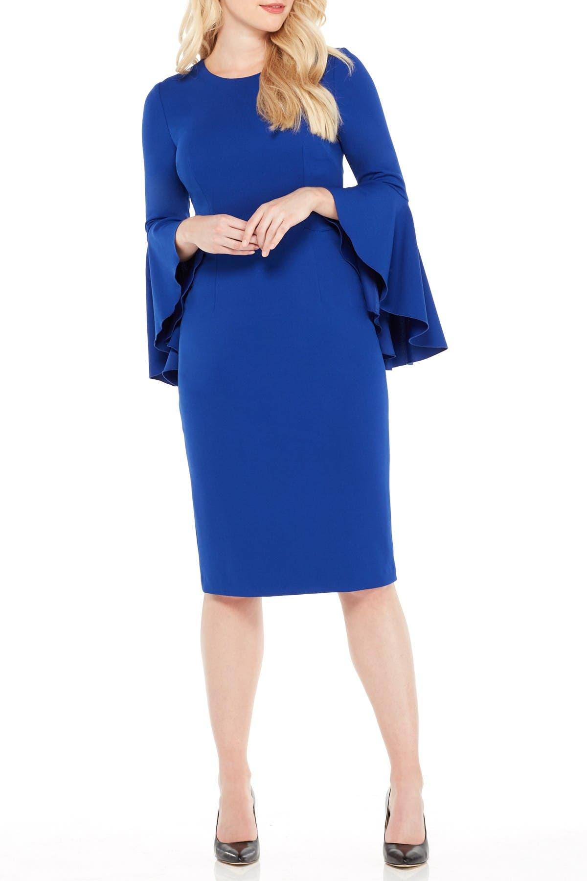 Image of Maggy London Sasha Bell Sleeve Midi Dress