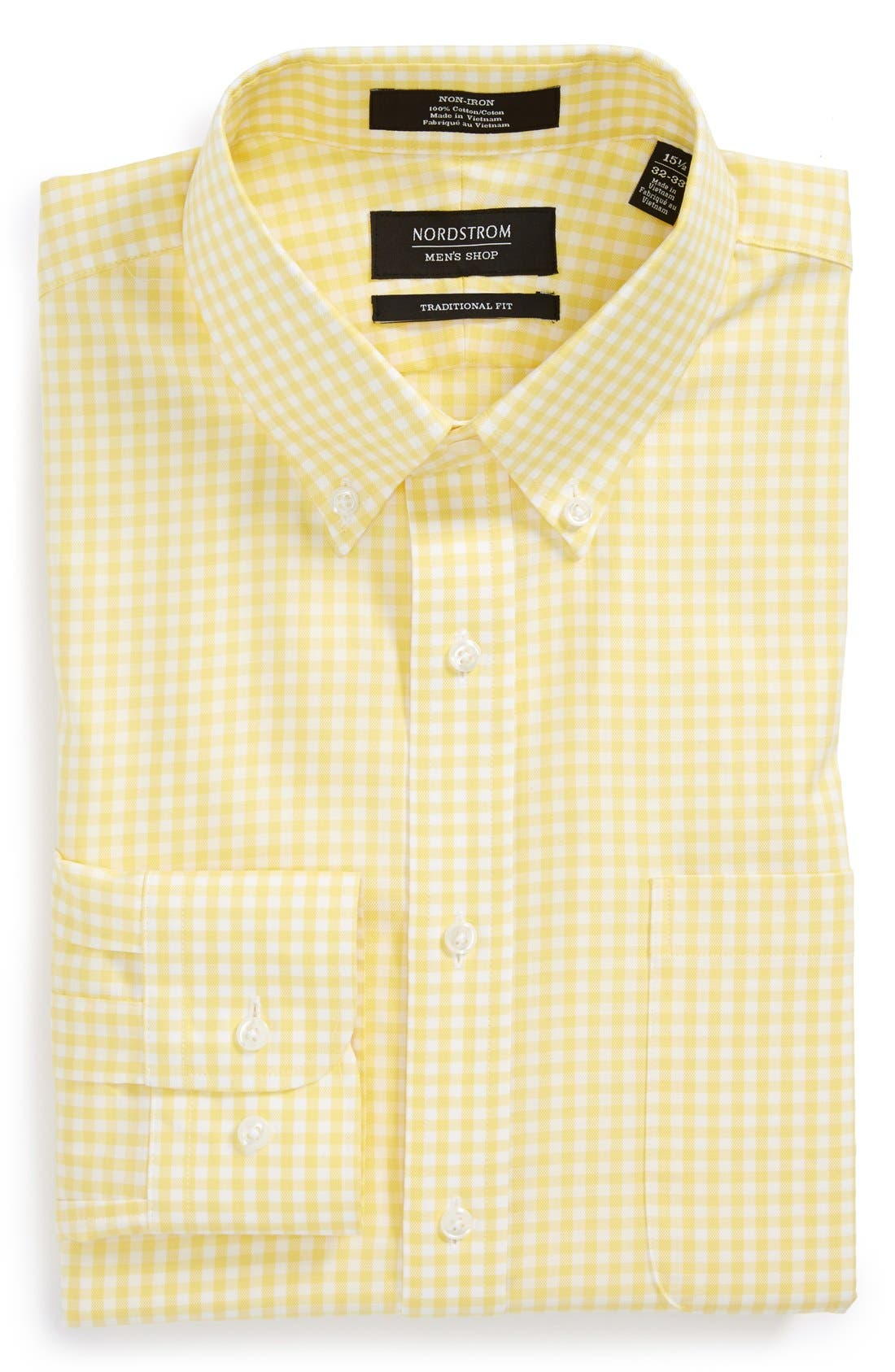 ,                             Traditional Fit Non-Iron Gingham Dress Shirt,                             Main thumbnail 75, color,                             720