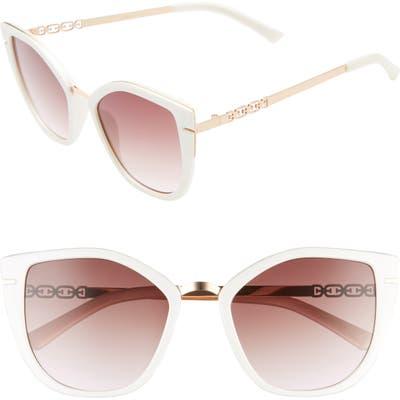 Sam Edelman 5m Gradient Cat Eye Sunglasses - Shimmering White