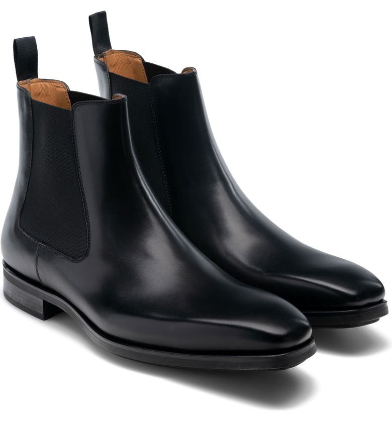 MAGNANNI Riley Diversa Chelsea Boot, Main, color, BLACK LEATHER