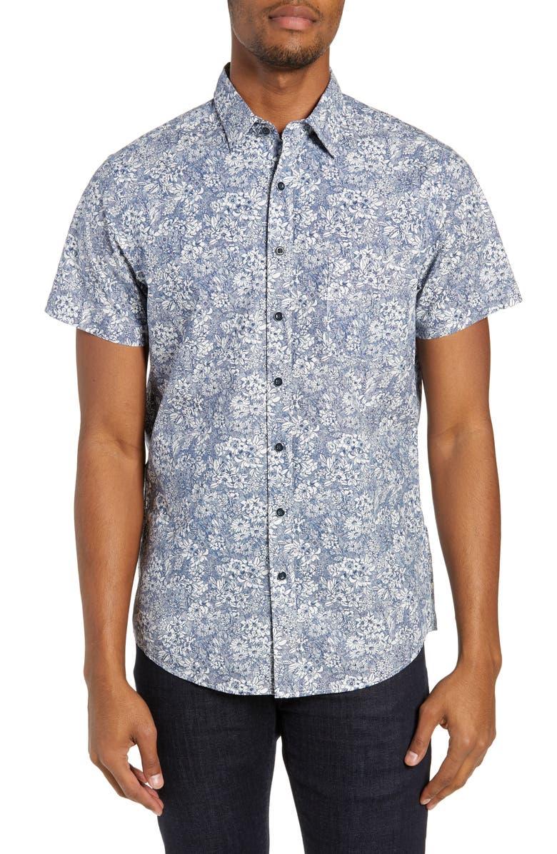 RODD & GUNN Braebrun Regular Fit Floral Shirt, Main, color, 435