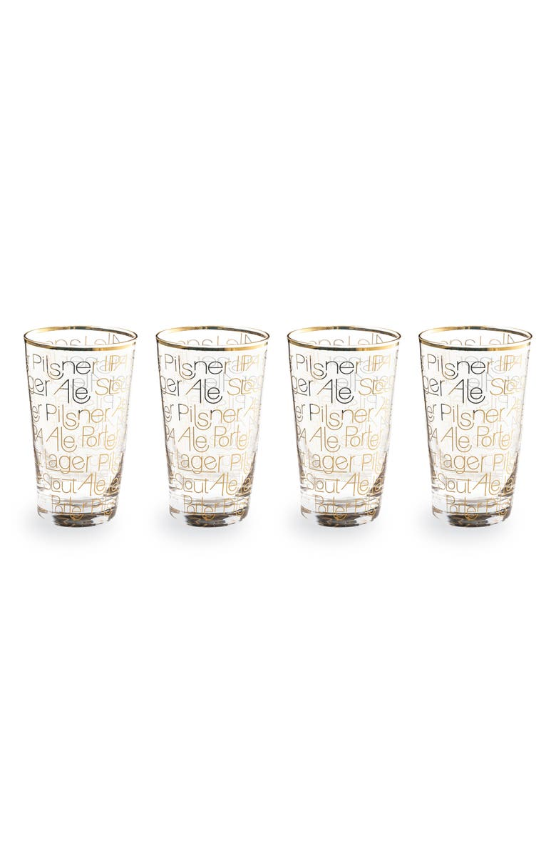 ROSANNA Set of 4 Pint Glasses, Main, color, CLEAR