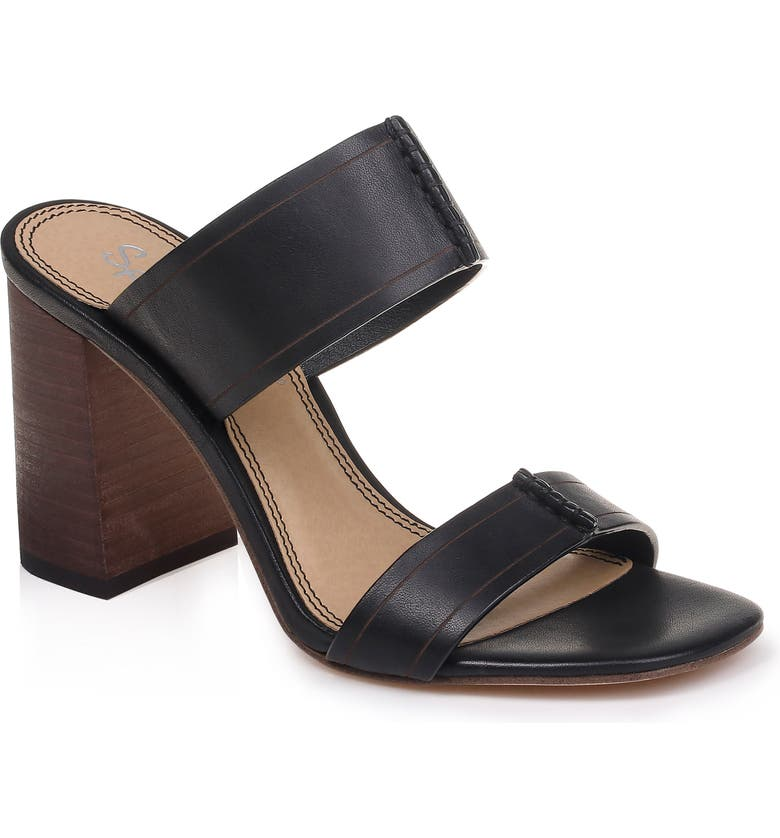 SPLENDID Tacy Slide Sandal, Main, color, BLACK LEATHER
