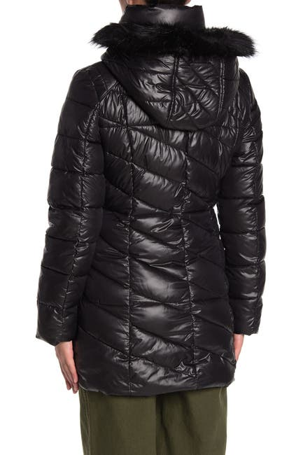 Image of Andrew Marc Shirley Faux Fur Trim Puffer Parka