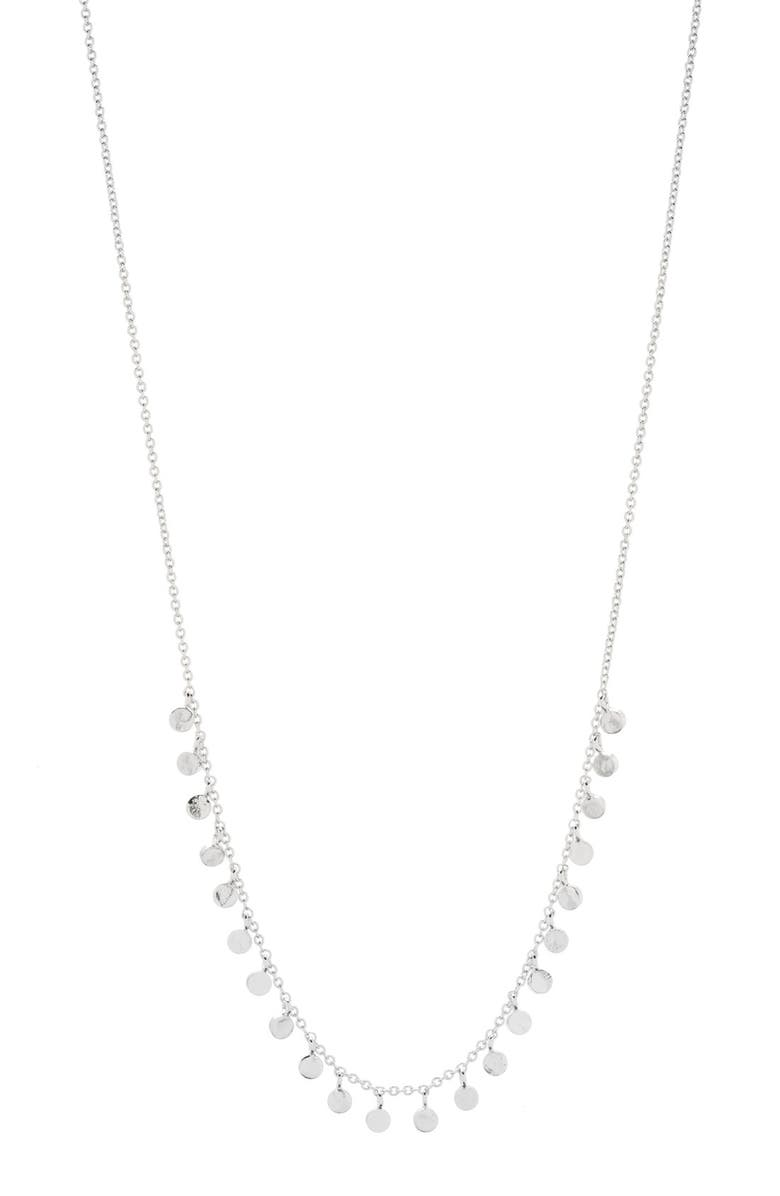 GORJANA Chloe Mini Strand Necklace, Main, color, SILVER