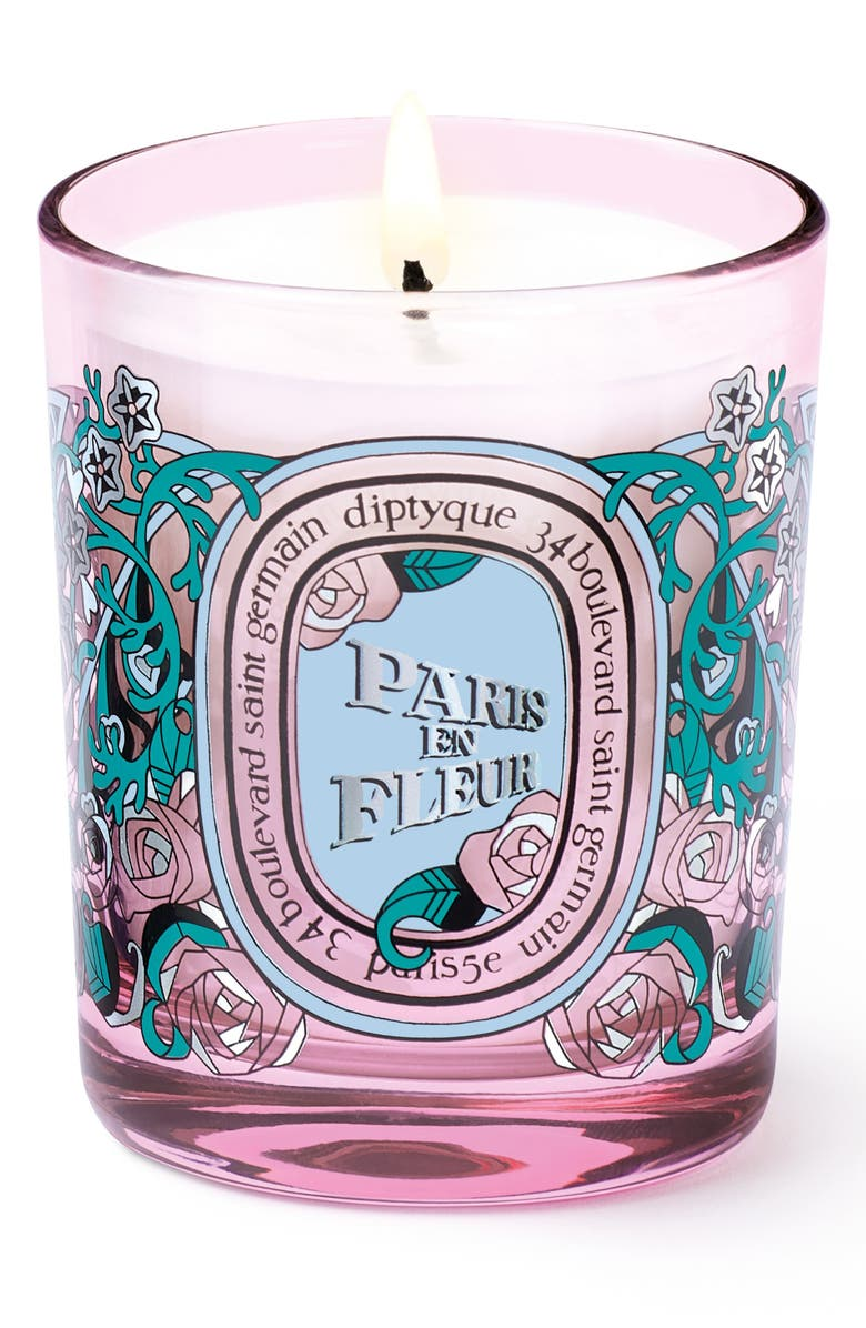 DIPTYQUE Paris en Fleur Small Candle, Main, color, NO COLOR