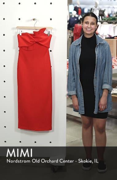 Bow Twist Textured Midi Dress, sales video thumbnail