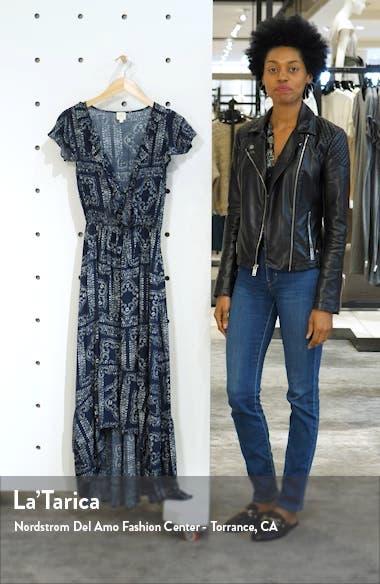 Distress Diamond High/Low Cover-Up Dress, sales video thumbnail