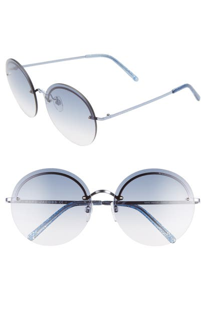 Marc Jacobs Sunglasses 60MM ROUND SUNGLASSES - BLUE/ BLUE GRADIENT