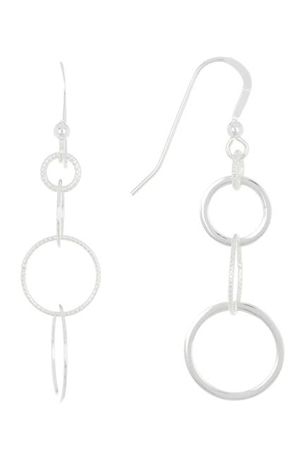 Image of Candela Sterling Silver Multi Circle Drop Earrings