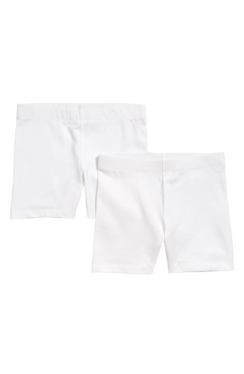 TUCKER + TATE 2-Pack Bike Shorts, Main, color, WHITE