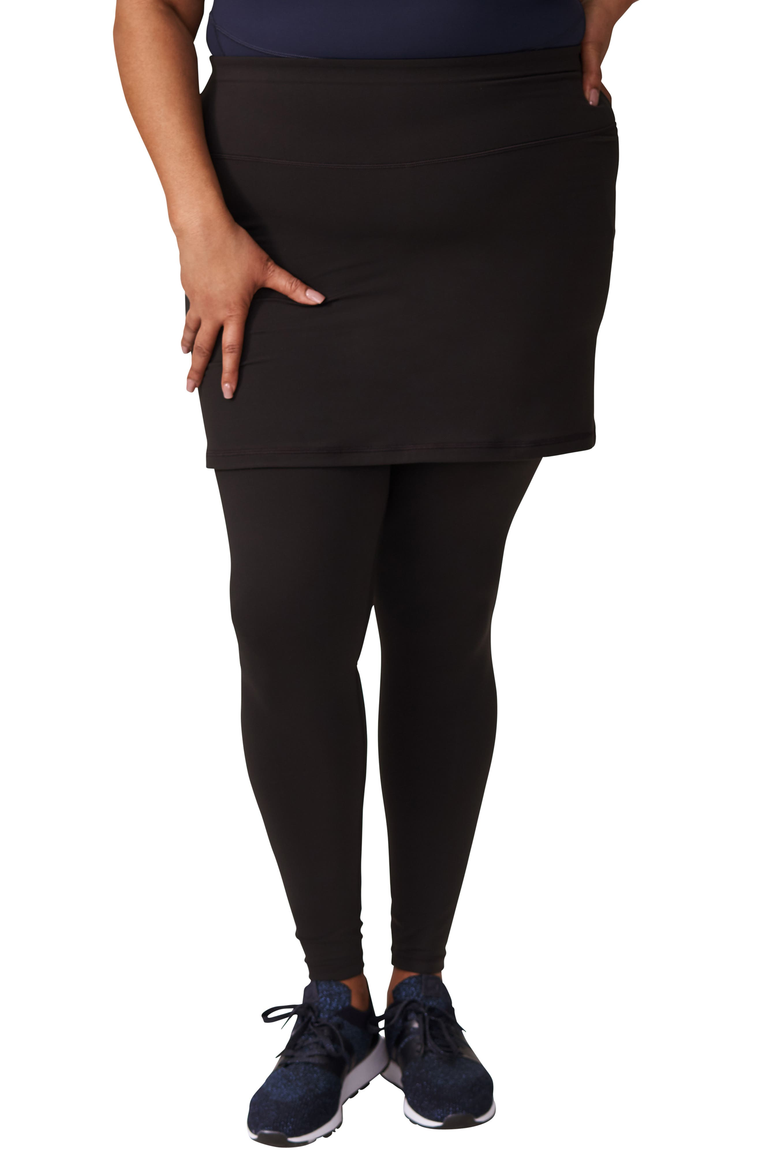 Plus Size Universal Standard Skirted Leggings, Size L (2-2) - Black