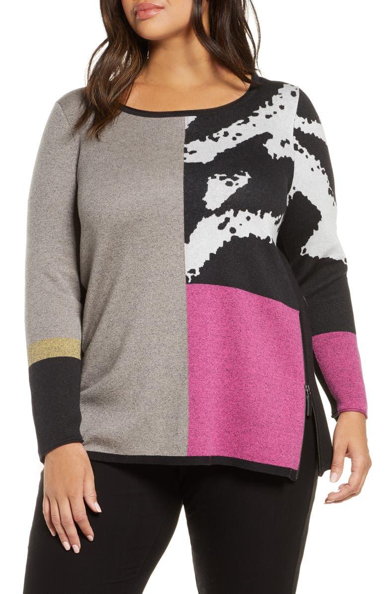 NIC+ZOE Block It Off Sweater, Main, color, 020