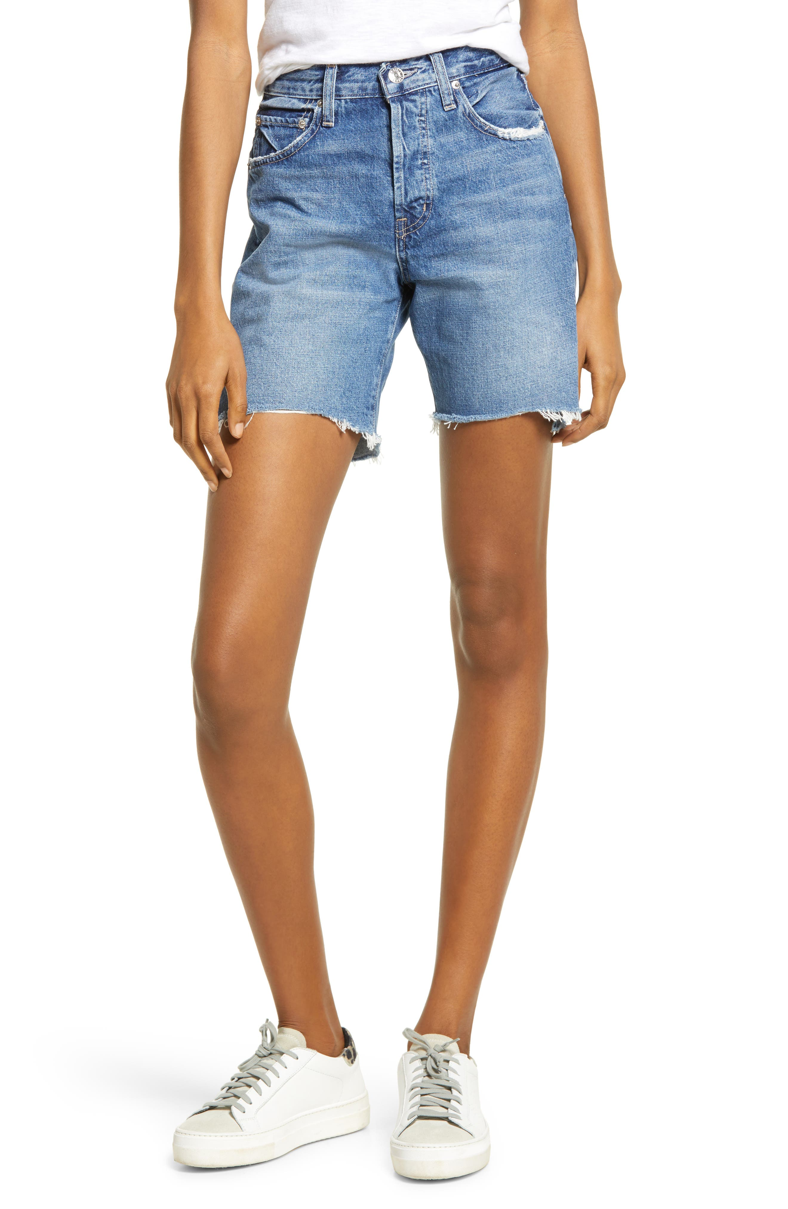 Cai Nonstretch Cutoff Denim Shorts