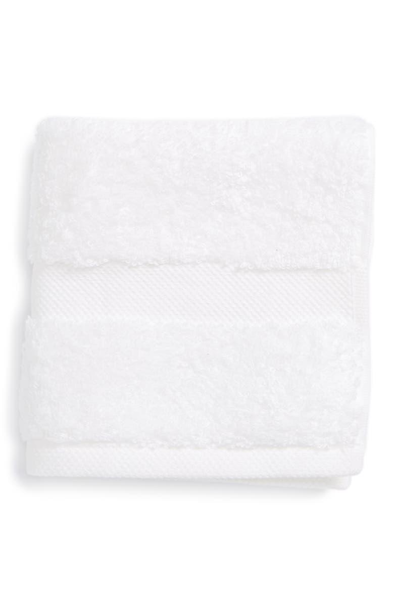MATOUK Lotus Washcloth, Main, color, WHITE