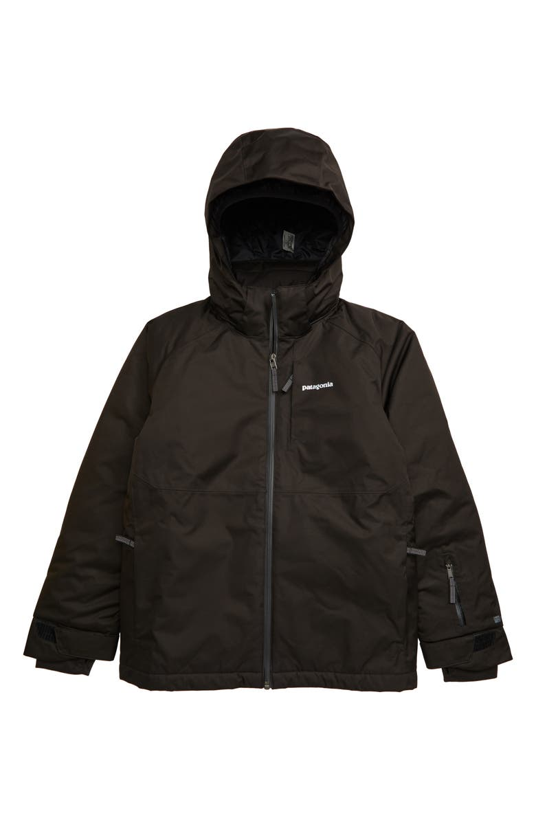 PATAGONIA Snowshot Waterproof Insulated Hooded Jacket, Main, color, 001