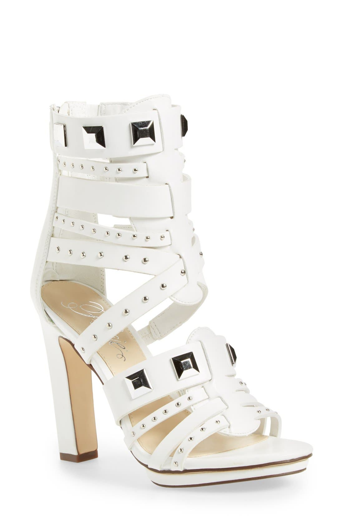 ,                             'Bonnie' Studded Strappy Sandal,                             Main thumbnail 5, color,                             100