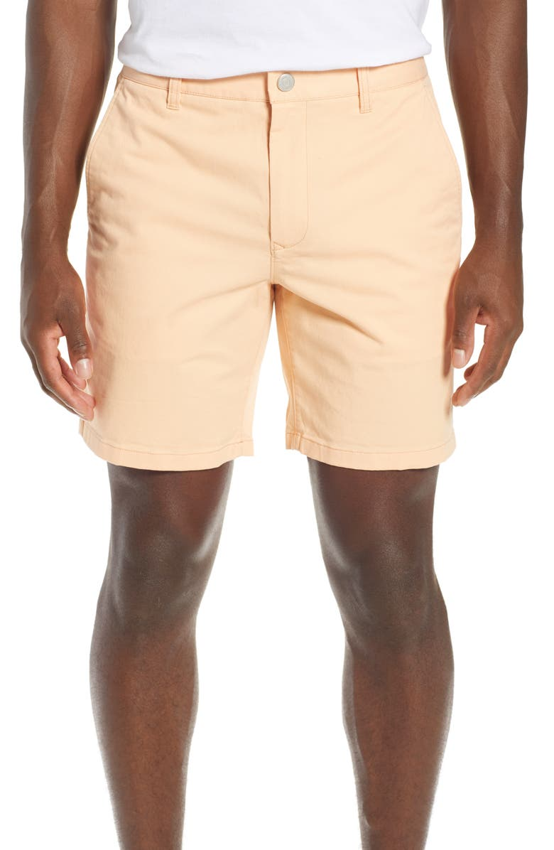 BONOBOS Stretch Washed Chino 7-Inch Shorts, Main, color, APRICOT RAYS