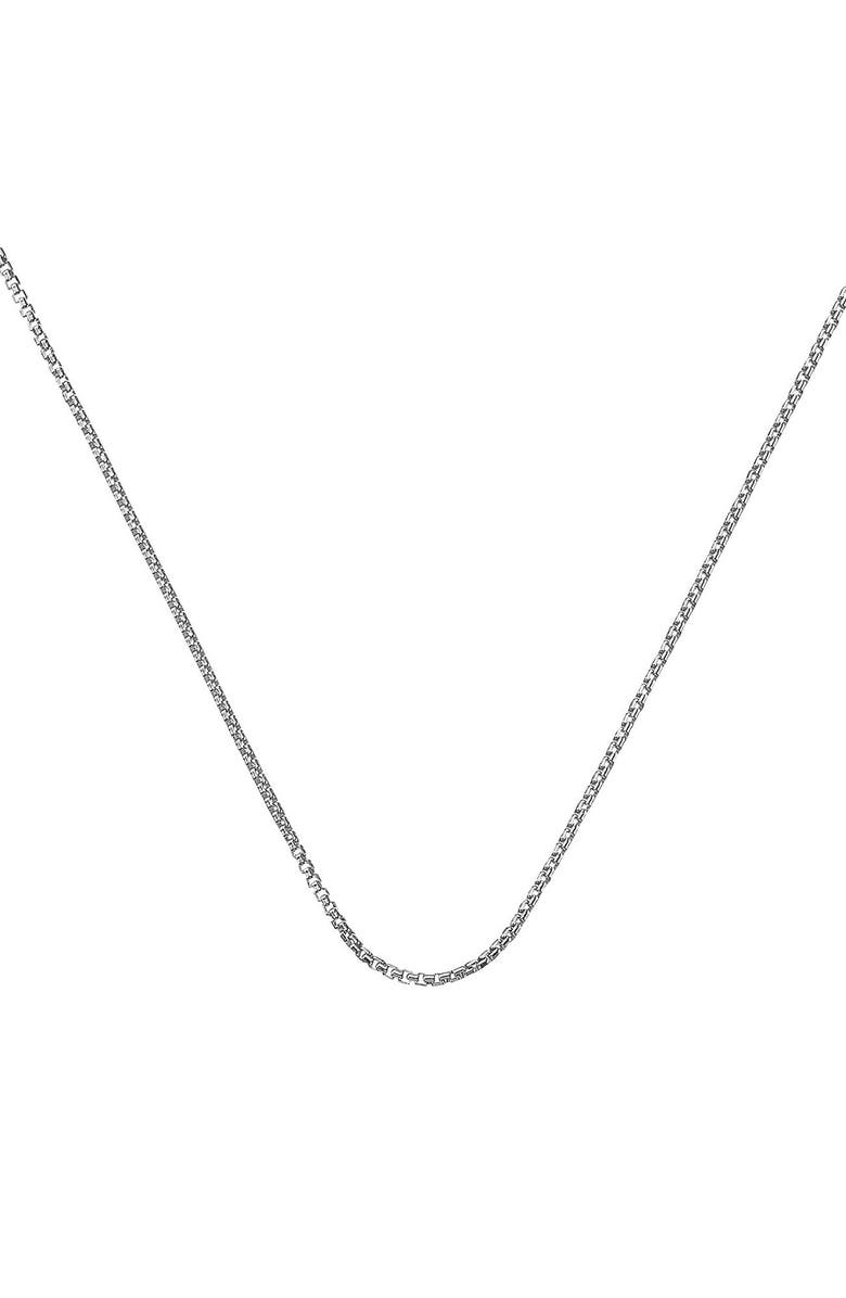 MONICA VINADER 18-Inch Box Chain, Main, color, SILVER