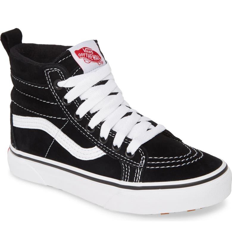 VANS Sk8-Hi Sneaker, Main, color, BLACK/ TRUE WHITE