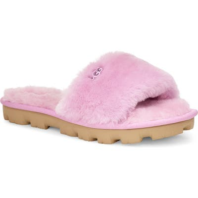 Ugg Cozette Genuine Shearling Slide, Pink