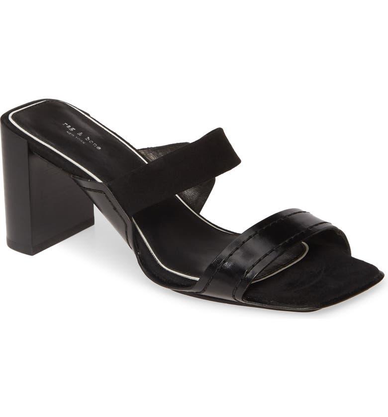 RAG & BONE Colt Slide Sandal, Main, color, BLACK