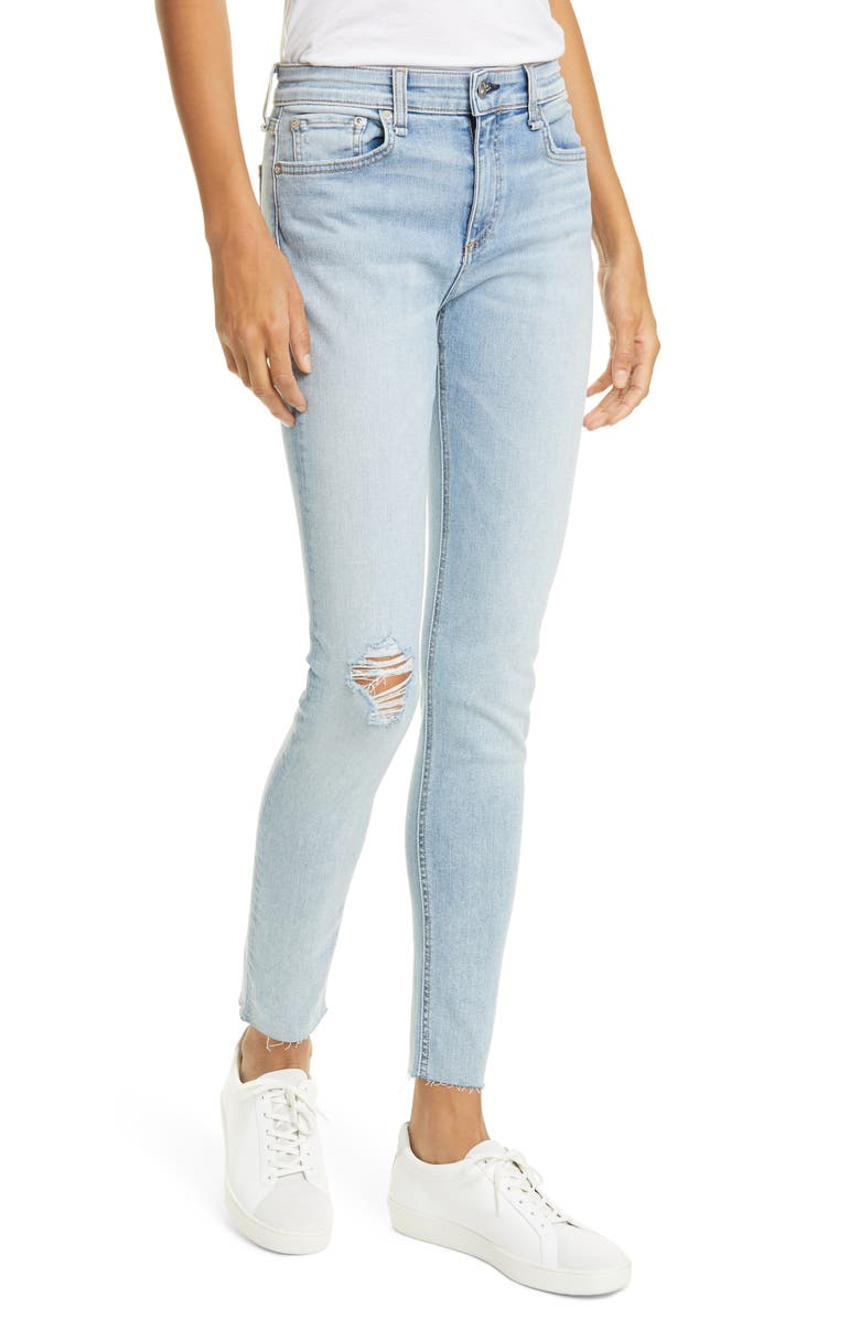 RAG & BONE Cate Ripped Skinny Jeans, Main, color, NIGHT BLUE