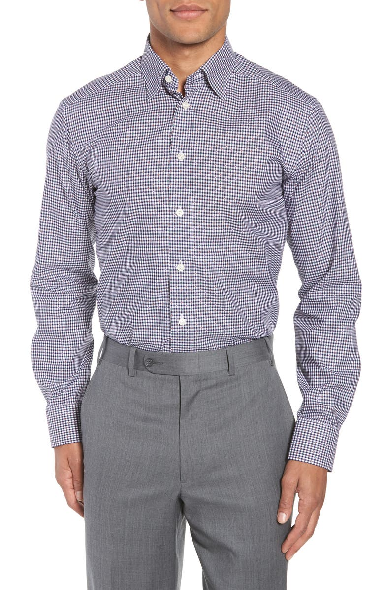 ETON Slim Fit Check Dress Shirt, Main, color, 400
