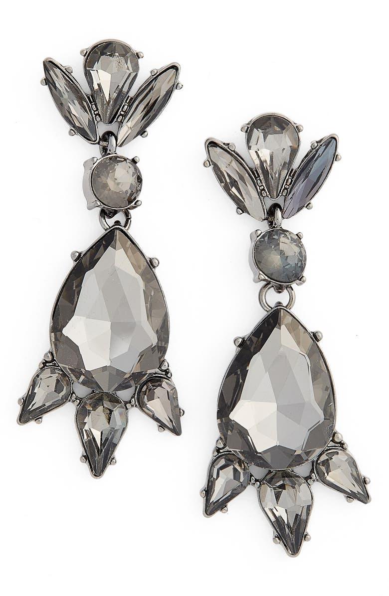 LEITH Crystal Teardrop Statement Earrings, Main, color, 001