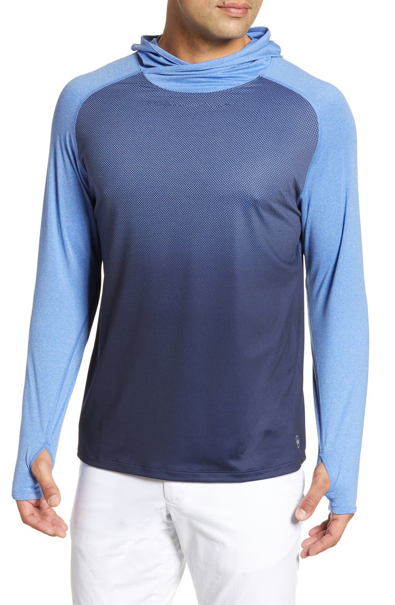 PETER MILLAR Rome Technical Pullover Hoodie, Main, color, 410