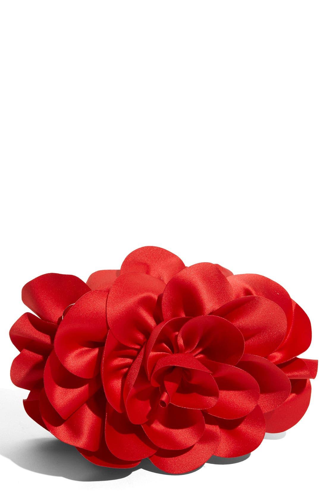 ,                             'Rose' Satin Box Clutch,                             Main thumbnail 15, color,                             605