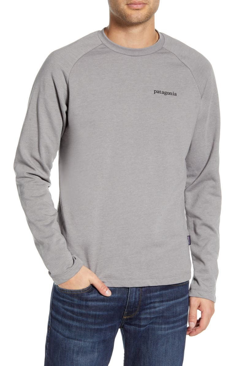 PATAGONIA Line Ridge Logo Graphic Sweatshirt, Main, color, FEATHER GREY