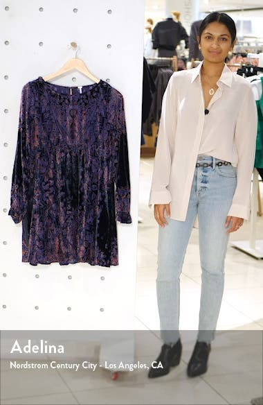 Mirror, Mirror Long Sleeve Velvet Minidress, sales video thumbnail