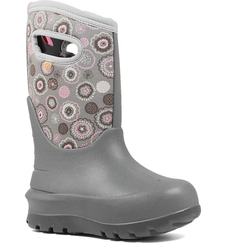 BOGS Neo Classic Bullseye Insulated Waterproof Boot, Main, color, GRAY MULTI