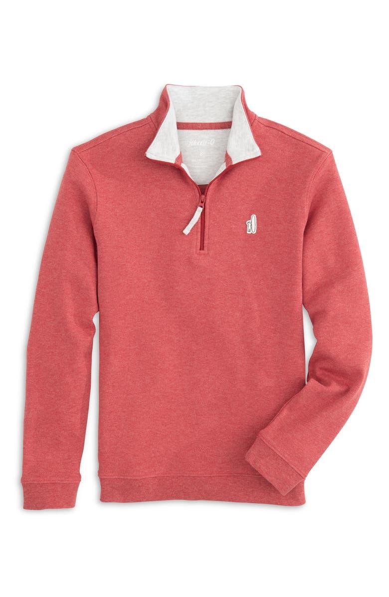 JOHNNIE-O Watson Quarter Zip Pullover, Main, color, SERRANO