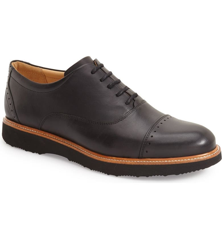SAMUEL HUBBARD 'Market' Cap Toe Oxford, Main, color, BLACK