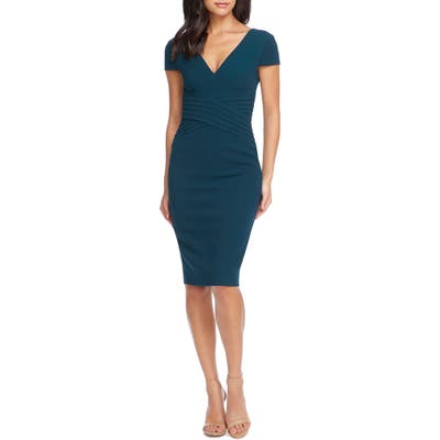Dress The Population Dolores Sheath, Green