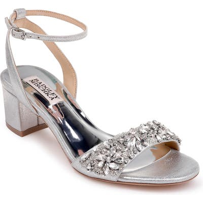Badgley Mischka Ivanna Ankle Strap Sandal- Metallic
