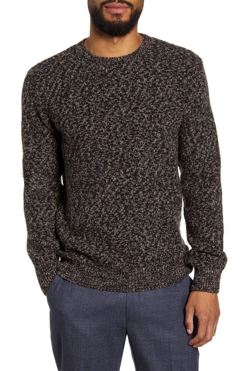 OLIVER SPENCER Blenheim Slim Fit Crewneck Wool Sweater, Main, color, 005