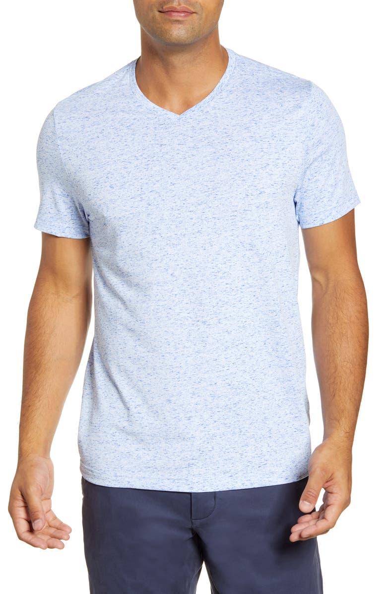 CUTTER & BUCK Advantage Space Dye T-Shirt, Main, color, TOUR BLUE