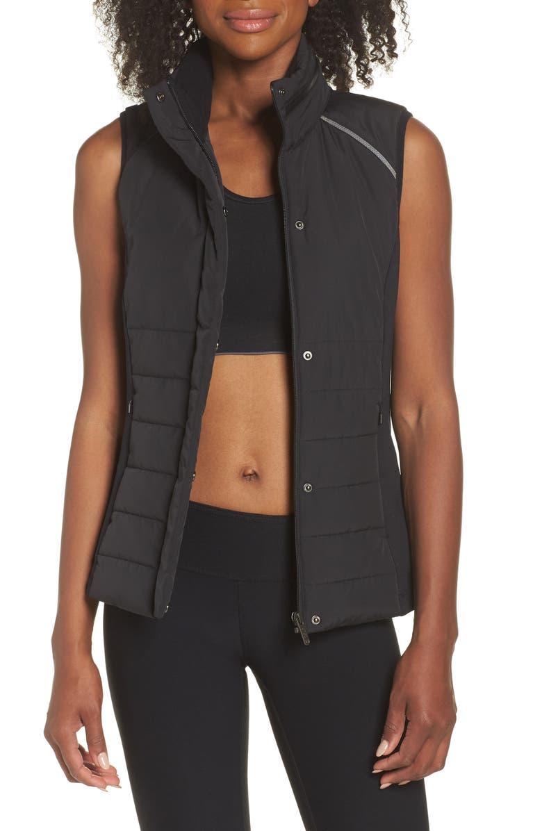 ZELLA Coco Hybrid Vest, Main, color, BLACK
