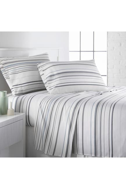 Image of SOUTHSHORE FINE LINENS Queen Premium Collection Printed Deep Pocket Sheet Sets - Gray