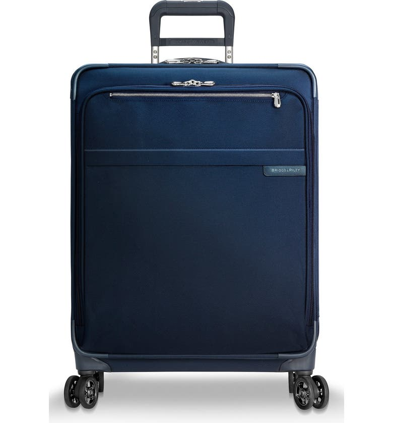 BRIGGS & RILEY Baseline 25 Inch Expandable Rolling Suitcase, Main, color, NAVY