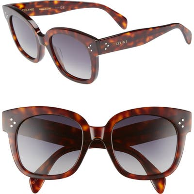 Celine 5m Polarized Square Sunglasses - Red Havan/ Smoke
