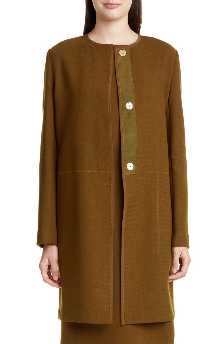 LAFAYETTE 148 NEW YORK Kierra Wool Jacket, Main, color, HERB