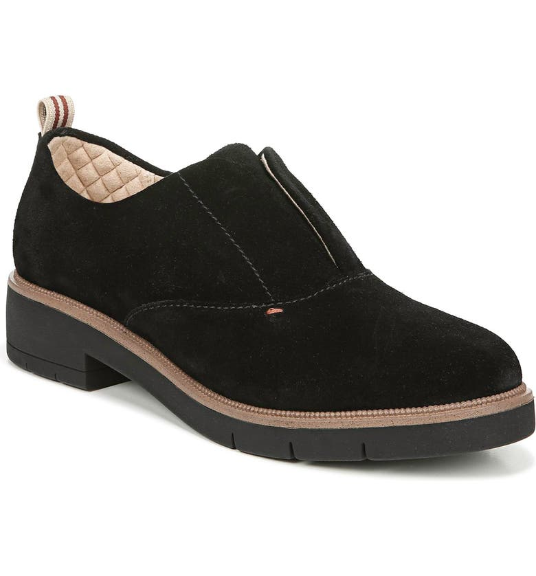 DR. SCHOLL'S Guess What Oxford, Main, color, BLACK SUEDE