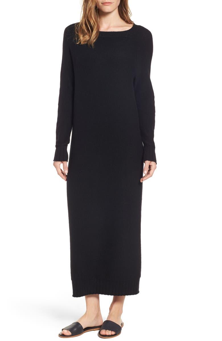 HINGE V-Back Sweater Dress, Main, color, 001