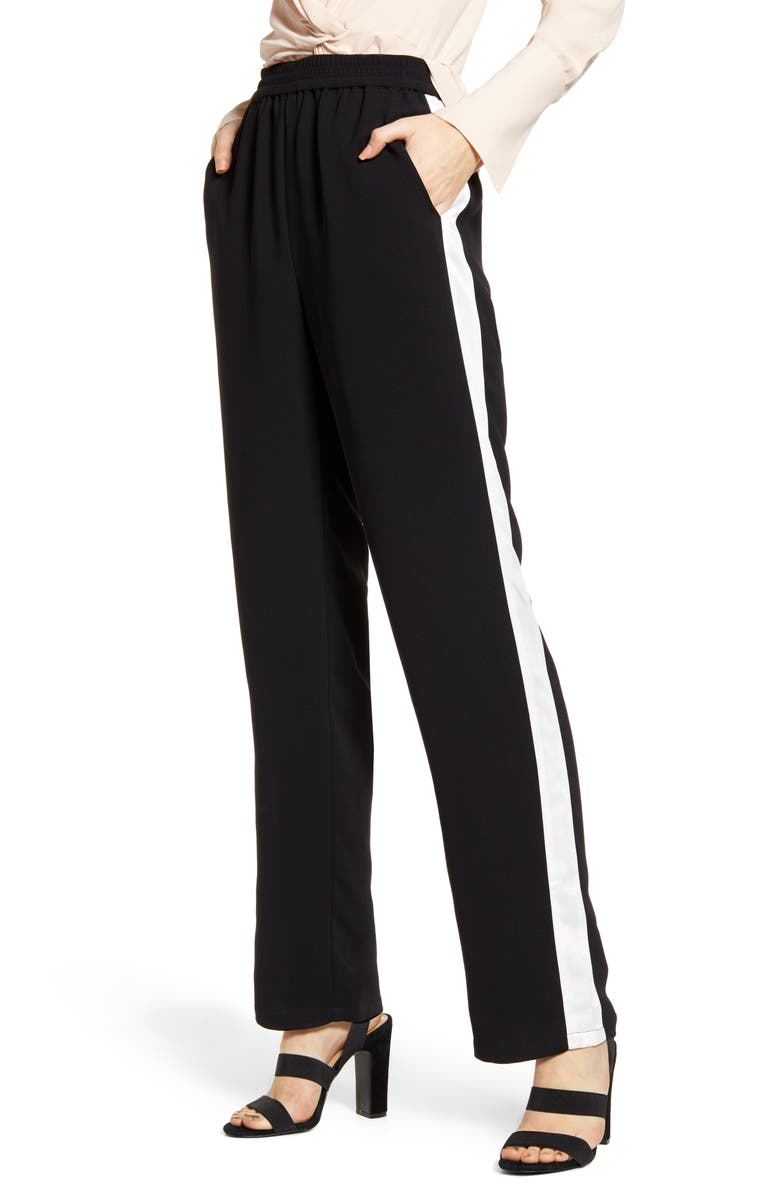 CHELSEA28 Stripe Track Pants, Main, color, 001